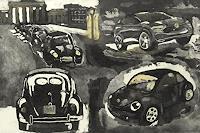Hans-Dieter-Ilge-Bewegung-Verkehr-Auto-Gegenwartskunst-Gegenwartskunst