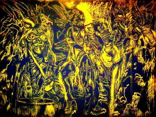 Hans-Dieter Ilge, Chaos, Gefühle: Aggression, Karneval, Gegenwartskunst, Abstrakter Expressionismus