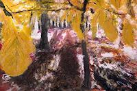 Hans-Dieter-Ilge-Landschaft-Winter-Natur-Wald-Moderne-expressiver-Realismus