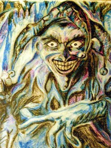 Jessica Berger, Harlekin, Zirkus, Gegenwartskunst, Abstrakter Expressionismus