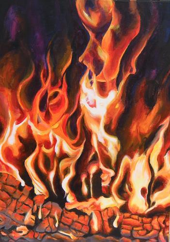 Patricia del Pilar Gottstein, Intensives Feuer, Natur: Feuer, Bewegung, Realismus