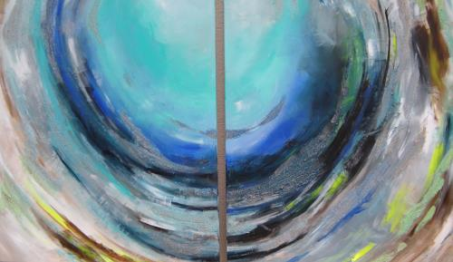 Patricia del Pilar Gottstein, Orkan, Natur: Luft, Bewegung, Abstrakte Kunst