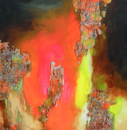 Patricia del Pilar Gottstein, Stalaktit und Stalagmit, Diverse Landschaften, Bewegung, Abstrakte Kunst, Abstrakter Expressionismus