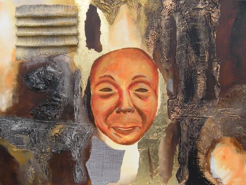 Patricia del Pilar Gottstein, Die Maske in Gold, Karneval, Zirkus, Abstrakte Kunst
