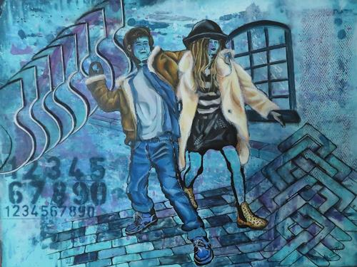 Patricia del Pilar Gottstein, Jugend Pop Art, Menschen: Gruppe, Situationen, Pop-Art