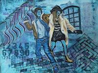 Patricia-del-Pilar-Gottstein-Menschen-Gruppe-Situationen-Moderne-Pop-Art