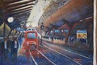 Milos-Petkovic-Wohnen-Stadt-Verkehr-Bahn-Moderne-Impressionismus