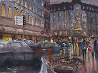 Milos-Petkovic-Menschen-Wohnen-Stadt-Moderne-Impressionismus