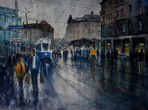 Milos Petkovic, Loewenplatz, Wohnen: Stadt, Impressionismus