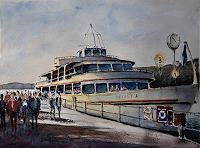 Milos-Petkovic-Verkehr-Schiff-Moderne-Impressionismus