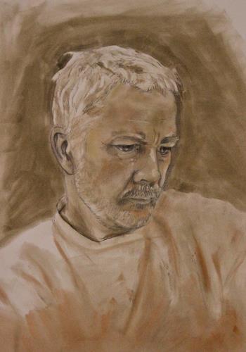 Martin Künne, Kopf 10 (Selbstportrait), Menschen: Porträt, Realismus, Expressionismus