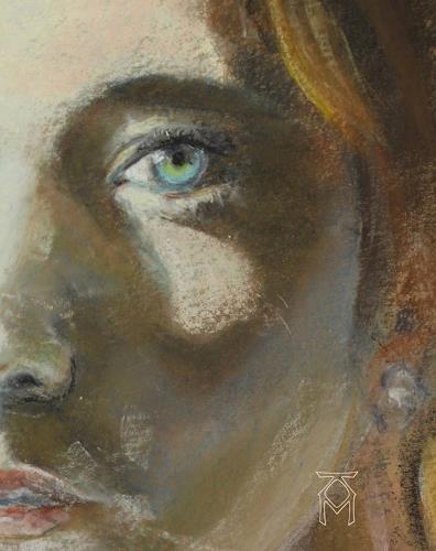 Martin Künne, Grünes Auge, Menschen: Frau, Menschen: Gesichter, Neo-Expressionismus, Expressionismus