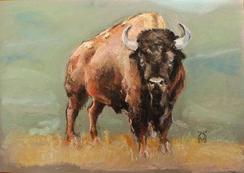 Martin Künne, Bison, Tiere: Land, Natur: Diverse, Gegenwartskunst