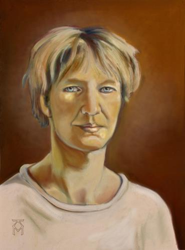 Martin Künne, Elke 4 (2020), Menschen: Gesichter, Menschen: Frau, expressiver Realismus