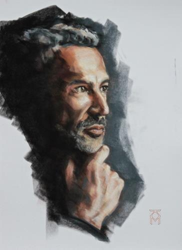 Martin Künne, Kopfstudie No. 21, Menschen: Porträt, Menschen: Mann, Gegenwartskunst