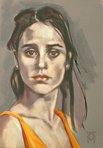 Martin Künne, Kopf No. 39, Menschen: Gesichter, Menschen: Porträt, Gegenwartskunst, Expressionismus