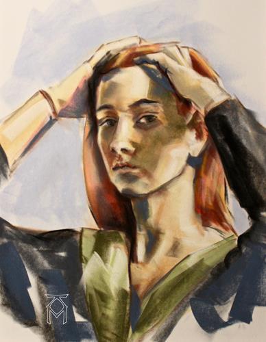 Martin Künne, Kopf No. 44, Menschen: Gesichter, Menschen: Porträt, Gegenwartskunst, Expressionismus