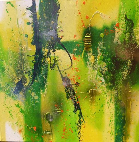 Sandra Dürr, jungle fever, Abstraktes