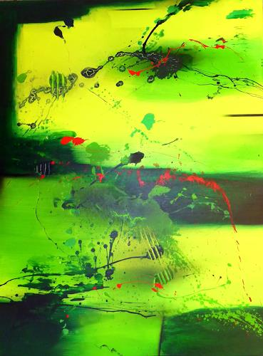 Sandra Dürr, refreshing energy, Abstraktes, Action Painting