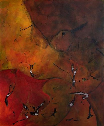 Marianne Marbach, O.T., Abstraktes, Fantasie, Expressionismus