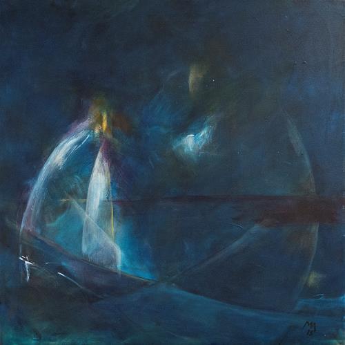 Marianne Marbach, Illusion der Stille, Abstraktes, Poesie, Gegenwartskunst, Expressionismus