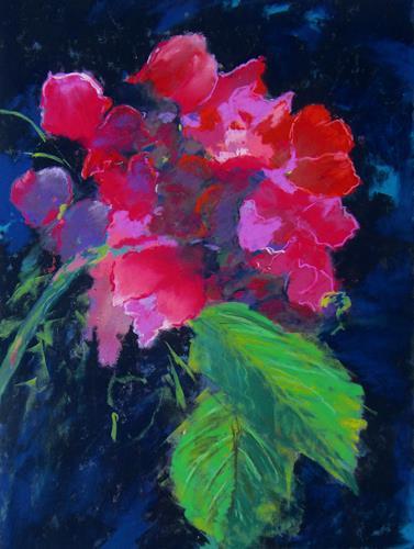 Karin Goeppert, Fast da - Almost there, Pflanzen: Blumen, Pflanzen: Blumen, Gegenwartskunst