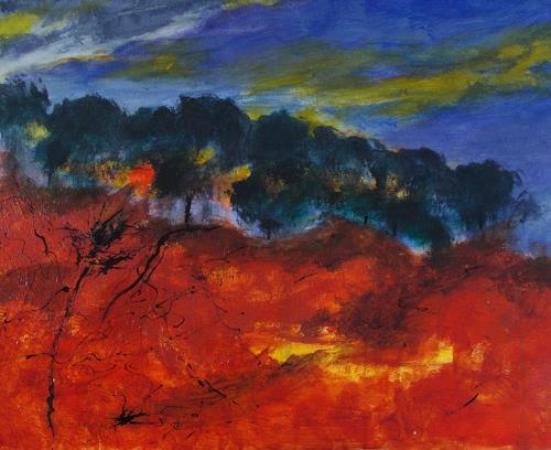 Karin Goeppert, Explosion - Eruption, Landschaft, Abstraktes, Gegenwartskunst
