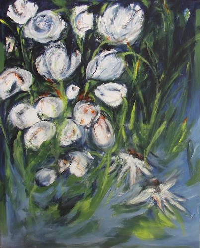 Karin Goeppert, Gartenfieber II - Gardenfever II, Abstraktes, Pflanzen: Blumen, Gegenwartskunst