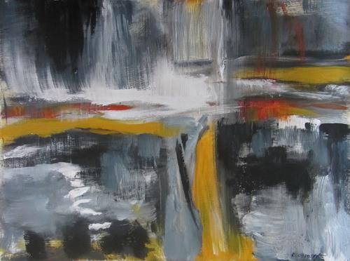 Karin Goeppert, Es passiert schon - It's already happening, Abstraktes, Abstraktes, Gegenwartskunst