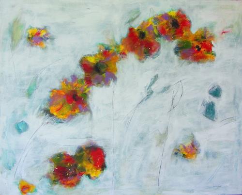 Karin Goeppert, Mauerblümchen - Wallflower, Pflanzen: Blumen, Abstraktes, Gegenwartskunst