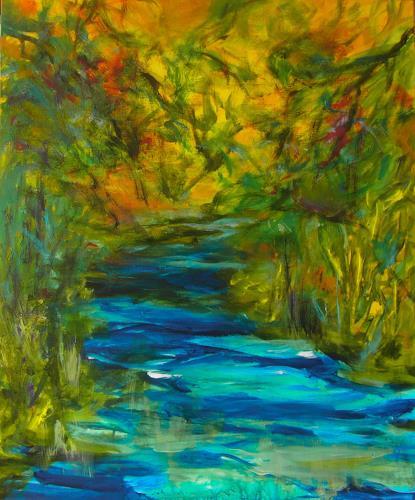 Karin Goeppert, Wilde Gewässer, Landschaft, Abstraktes, Gegenwartskunst, Expressionismus