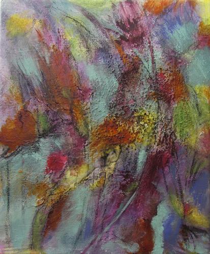 Karin Goeppert, Brennendes Feld - Burning Field, Abstraktes, Abstraktes, Gegenwartskunst