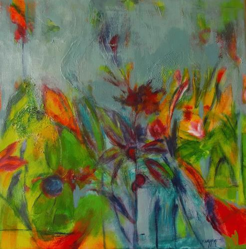 Karin Goeppert, Marrokanischer Garten, Abstraktes, Abstraktes, Gegenwartskunst