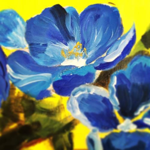 Dayana Krings, Details, Abstraktes, Pflanzen: Blumen, Moderne, Expressionismus