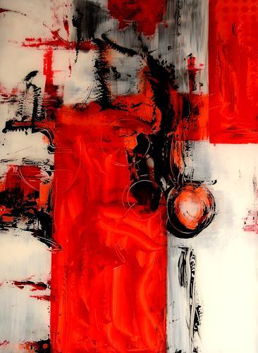Christine Claudia Weber, Hinterglas, Abstraktes, Gegenwartskunst, Abstrakter Expressionismus
