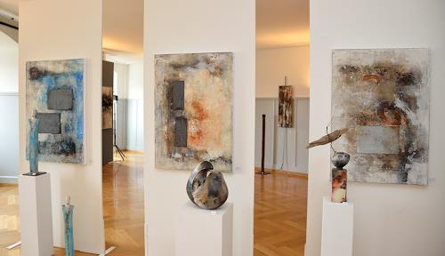 Christine Claudia Weber, Kunst im Schloss, Abstraktes, Gegenwartskunst