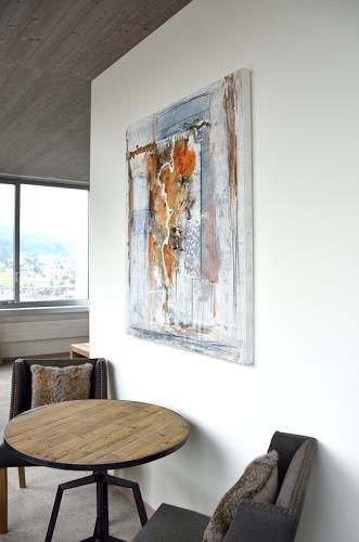 Christine Claudia Weber, Raum und Bild, Abstraktes, Wohnen, Gegenwartskunst