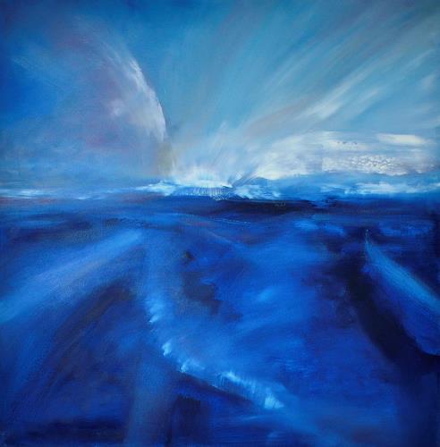 Christine Claudia Weber, Island, Landschaft, Landschaft: Ebene, Abstrakte Kunst