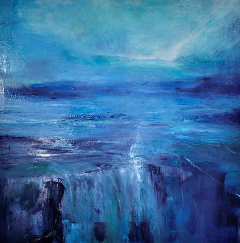 Christine Claudia Weber, Island, Landschaft, Landschaft: See/Meer, Abstrakte Kunst, Expressionismus