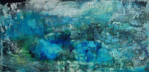 Christine Claudia Weber, Island, Abstraktes, Landschaft, Abstrakte Kunst, Expressionismus