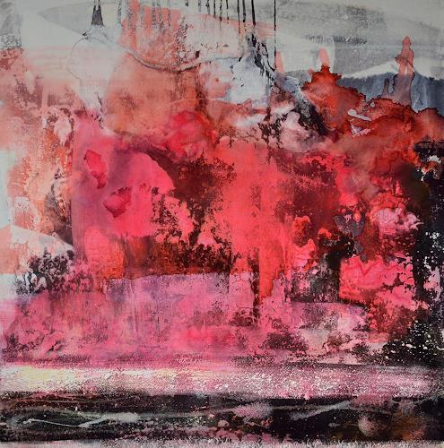 Christine Claudia Weber, Frühling, Abstraktes, Landschaft: Frühling, Abstrakte Kunst, Expressionismus