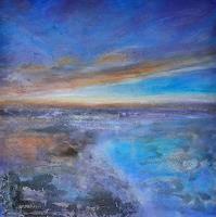 Christine-Claudia-Weber-Landschaft-Landschaft-See-Meer-Moderne-Abstrakte-Kunst