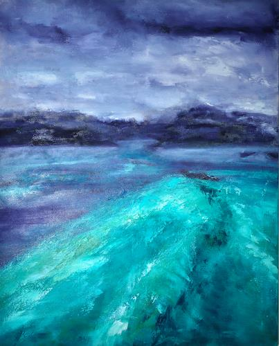 Christine Claudia Weber, Insel, Landschaft: See/Meer, Gegenwartskunst