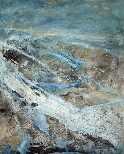 Christine Claudia Weber, Island, Landschaft: See/Meer, Landschaft: Strand, Gegenwartskunst, Expressionismus