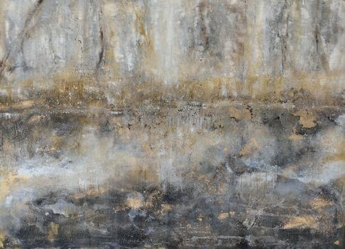 Christine Claudia Weber, Winterzauber, Landschaft, Natur: Wasser, Gegenwartskunst, Expressionismus