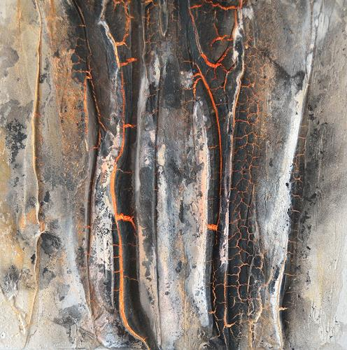 Christine Claudia Weber, Lava, Natur, Natur: Feuer, Abstrakter Expressionismus, Expressionismus