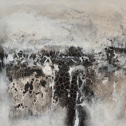 Christine Claudia Weber, Hell und Dunkel, Abstraktes, Landschaft, Expressionismus