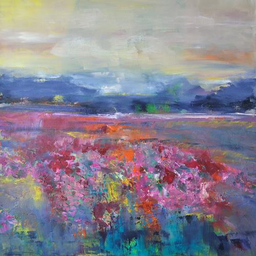 Christine Claudia Weber, OT, Landschaft, Landschaft: Frühling, Gegenwartskunst, Expressionismus