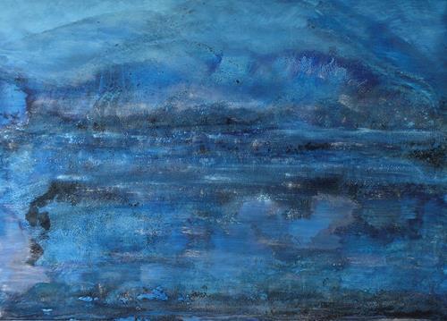 Christine Claudia Weber, Abstrakte Landschaft, Abstraktes, Natur, Abstrakte Kunst