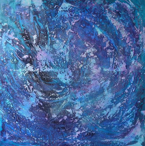 Christine Claudia Weber, Eintauchen, Natur, Natur: Wasser, Abstrakte Kunst